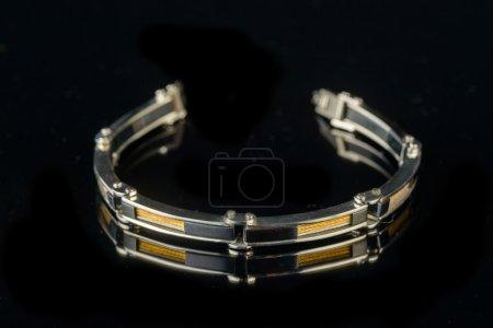 Bracelet  on black background