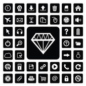 Jewelry and technology icon set