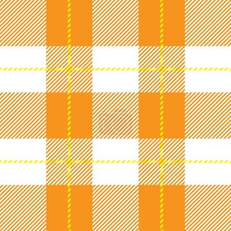 orange seamless tartan plaid