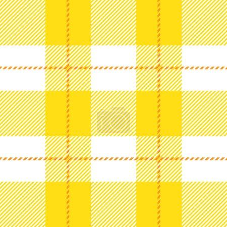 Yellow seamless tartan plaid