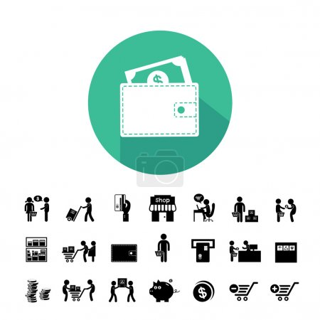 Shopping and delivery icons