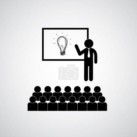 Presenting business idea icon