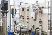 Ovládací panel zařízení na farmaceutický průmysl