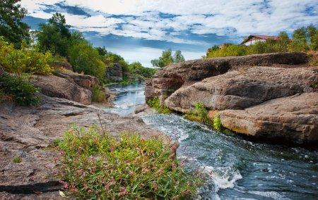 Gornij Tikich river with rapids in Buki village, Ukraine