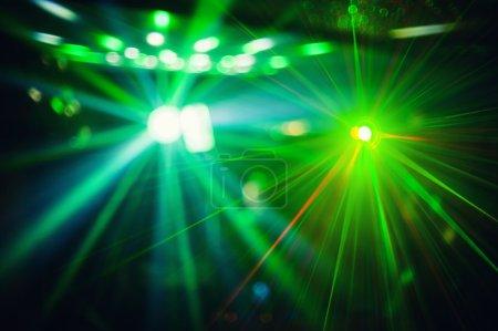 Photo pour Pokaż kolor dyskoteka światło z efektami specjalnymi i laserowe - image libre de droit