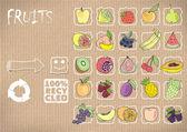 25 primitive icons fruit