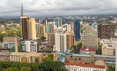Central business district of Nairobi, Kenya.