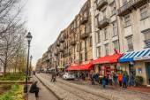 Historic buildings, shops and restaurants in Savannah