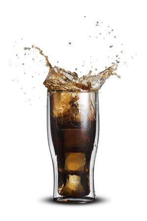 Cola Splash From Glass