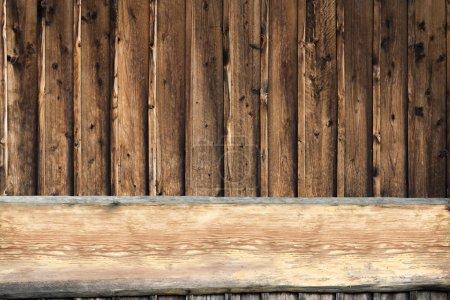 Foto de Fondo de textura de madera marrón. Imagen filtrada para uso de fondo - Imagen libre de derechos