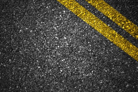Photo for Asphalt Road Texture with yellow stripes for Background - Royalty Free Image