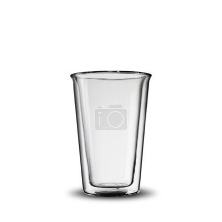 Photo pour Verre transparent vide sur fond blanc - image libre de droit