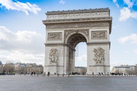 Arc de Triomphe in sunny day