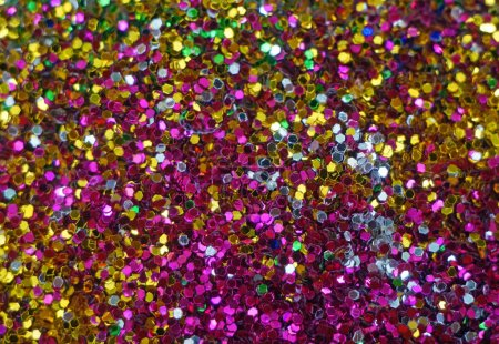 Photo for Small multicolored sequins as background - Royalty Free Image