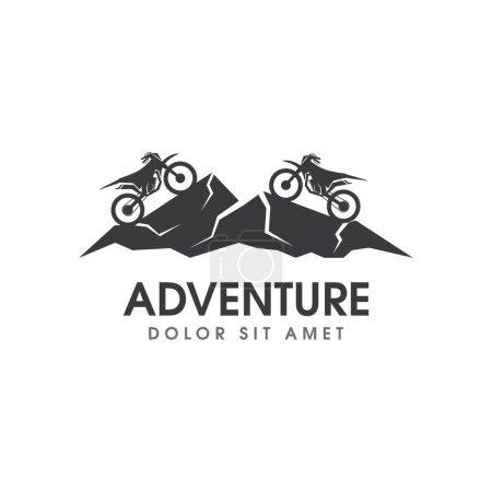Illustration for Motorbike sport logo design vector - Royalty Free Image