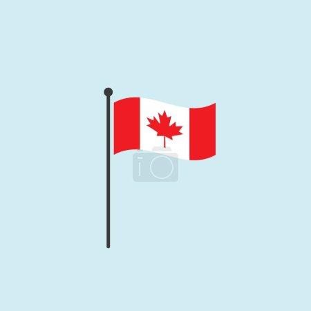 Illustration pour Drapeau du Canada vecteur design plat - image libre de droit