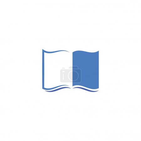 Illustration for Book education Logo Template vector design - Royalty Free Image