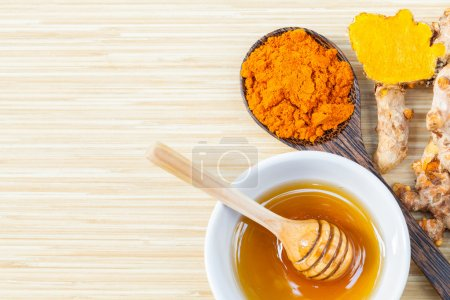 Natural Spa Ingredients . - Tumaric and honey  for skin care.