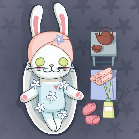 Illustration for Bunny Shower and Spa - Royalty Free Image