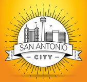 San Antonio City Skyline with Typographic Design