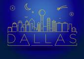 Dallas City Skyline with Typographic Design