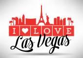 I Love Las Vegas Typography Design