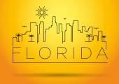 Florida City Line Silhouette Typographic Design