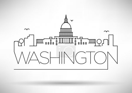 Washington D.C. City Line Silhouette