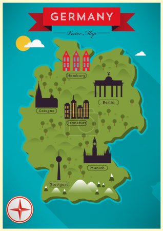 Colorful Map of Germany