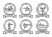 Olympic Sports Stroke Icons Set