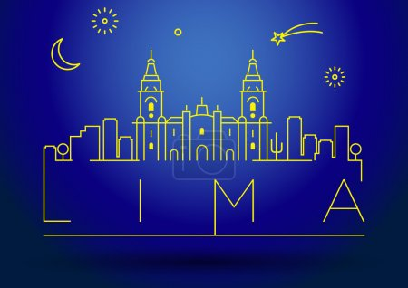 Lima City Line Silhouette