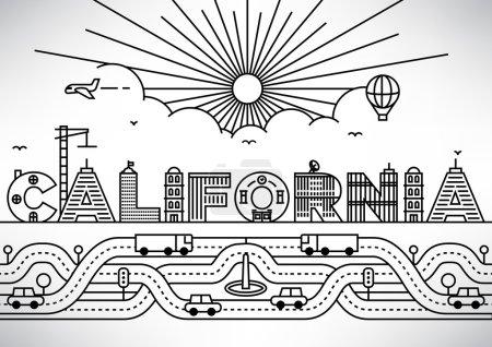 California City Typography Design