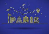 Párizs város tipográfia tervezése