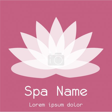 Illustration for Abstract spa icon on a colored background. Vector illustration - Royalty Free Image