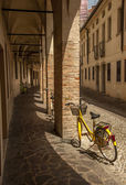 Bicycles on a cobbled Italian street