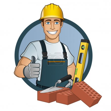 Photo for Man with different tools, cartoon vector - Royalty Free Image