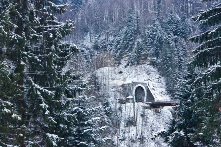 View of tunnel in Yaremche