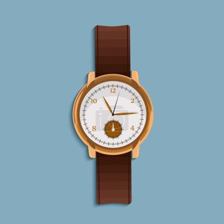 hand watch in flat design.