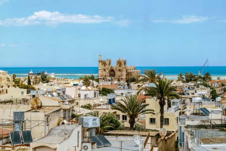 May 24, 2016.Famagusta.The roofs of the houses and...