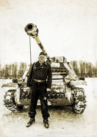 Russia St. Petersburg. January 25, 2015.Wehrmacht tankman. styli