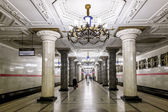 March 22, 2015. St. Petersburg, Russia.  St. Petersburg Metro st