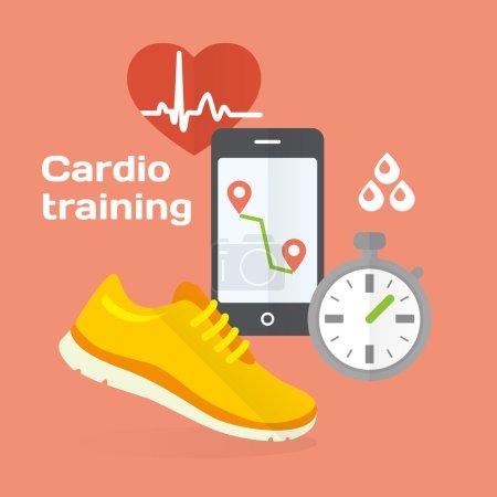 Cardio training  icons