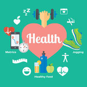 Healthy life concept icons