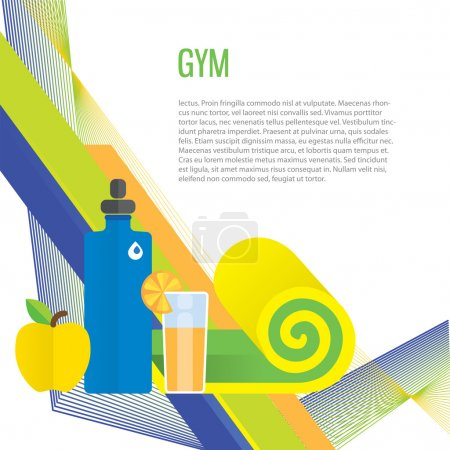 Sport gym background