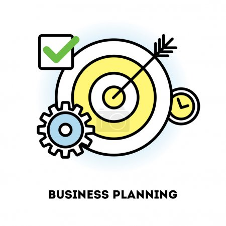 Time management and business planning icon