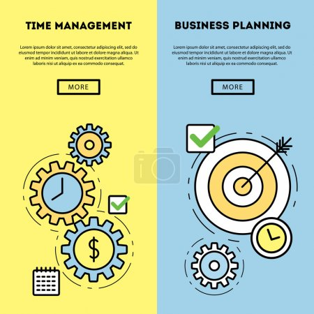 Time management and business planning banners