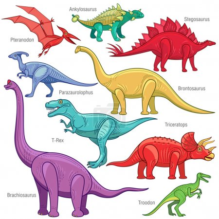 Vector image of dinosaurs.