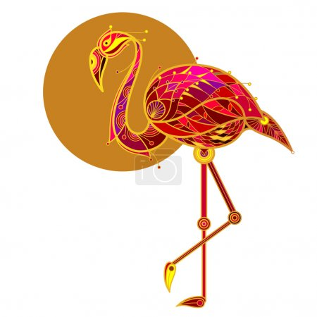 Vector image flamingo