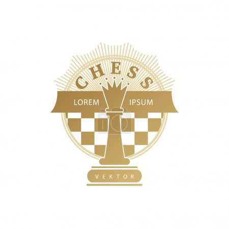 Logo with chess symbols