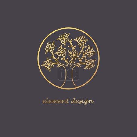 Linear tree logo.